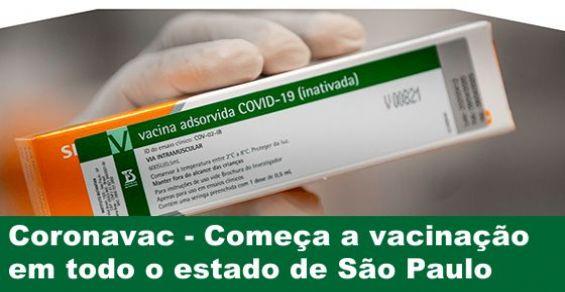 Coronavac - começa a vacinação