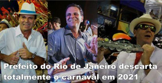 Carnaval 2021 cancelado no Rio