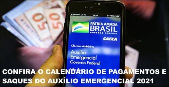 calendário emergencial 2021