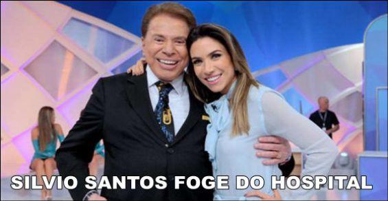 SILVIO SANTOS FOGE DO HOSPITAL